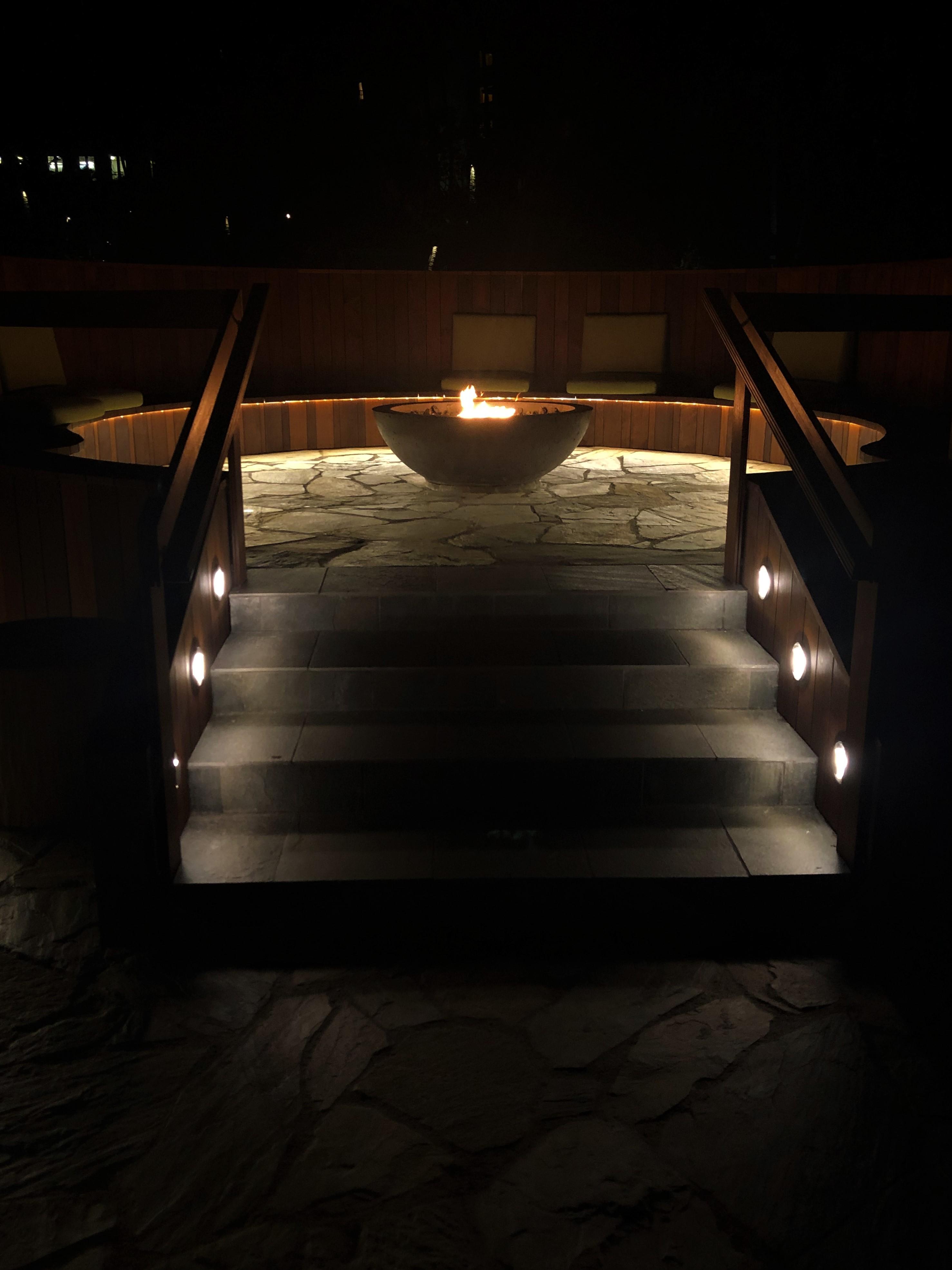The Ritz Carlton Fire Pit Patio