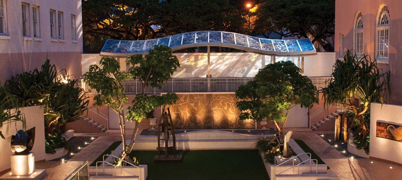Hawaii State Art Museum Courtyard